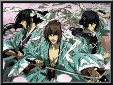 Hakuouki Shinsengumi Kitan (genre shojo, samourai, action,romance,drame) un chef d'oeuvre et un un superbe anime à ne pas manquer!