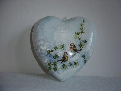 """Noël en coeur décor oiseaux"""