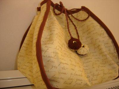 """sac aumonière """"marron et beige"""""""