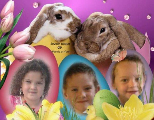Bonne fête de pâque pour mes Quatre petits-enfants