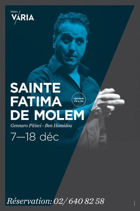 """SAINTE FATIMA DE MOLEM"" avec BEN HAMIDOU (""Les Barons"") : prix spécial CHRONYX.be du 7 au 18.12"