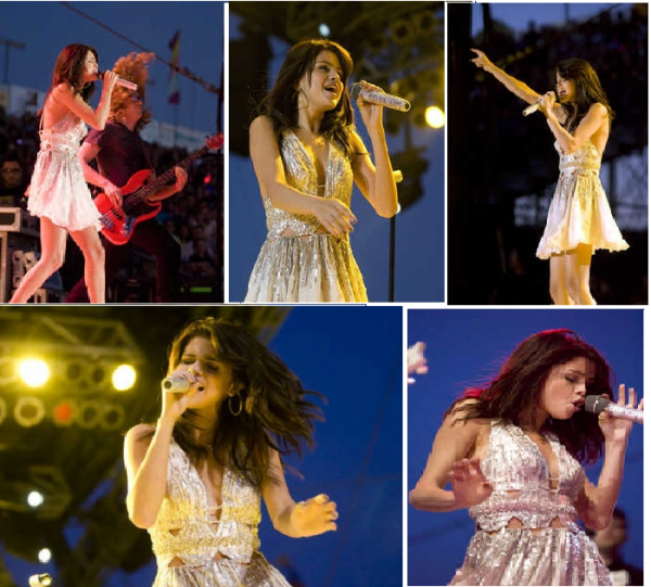 Selena au Mid State Fair Concert le lundi 25 juillet