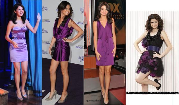 Quelle robe violette préfères-tu?