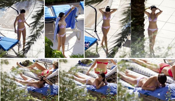 29/07/11: Après le parc, Selena est retourner à son hôtel pour se reposer un peu au bord de la piscine ( Floride ).