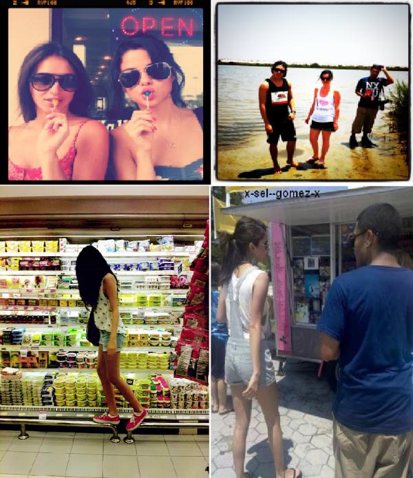 De nouvelles photos personnelles de Selena via Instagram en compagnie d'Ashley Cook et d'Alfredo Flores.