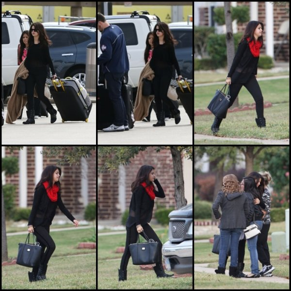 13/11/2012: Selena retourne chez elle à Dallas, au Texas