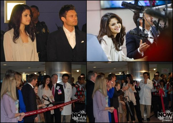 14/11/2012: Selena à l'inauguration de la fondation Children's Medical Center de Ryan Seacrest à Dallas, au Texas