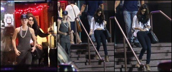 16/11/2012: Selena allant dîner avec son boyfriend Justin à Los Angeles