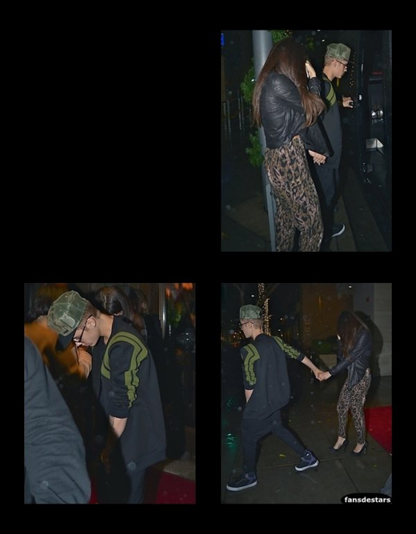 02/12/2012 : Selena et Justin sortant du restaurant '' Wolfgang's Steakhouse'' à Los Angeles