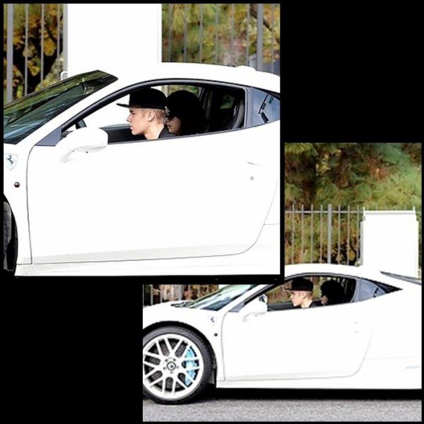 03/12/2012 : Selena et Justin sortant de la maison de ce dernier à Los Angeles