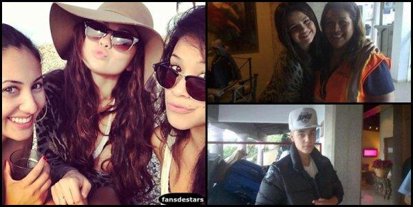 31/12/2012 : Selly avec des fans à l'aéroport de Puerto Vallarta au Mexique et à Pheonix.