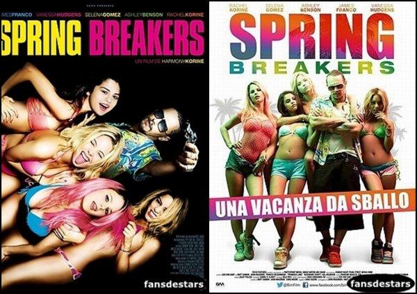 Affiche française du film Spring Breakers + en Bonus la version italienne !