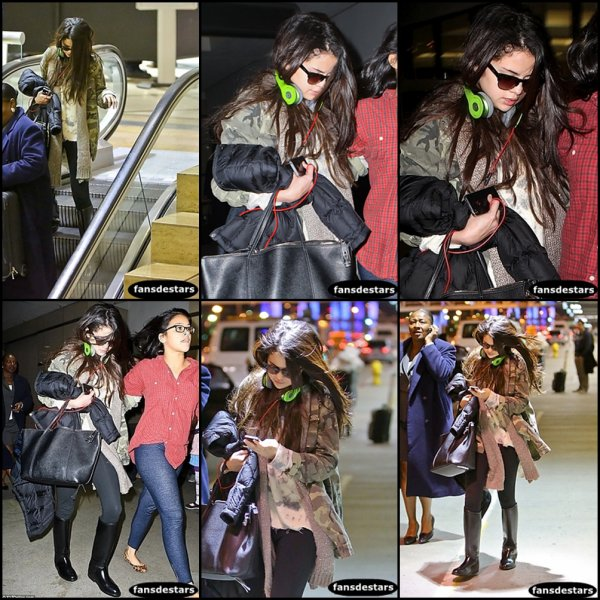 05/01/2013 : Selly arrivant a l'aéroport de LAX.