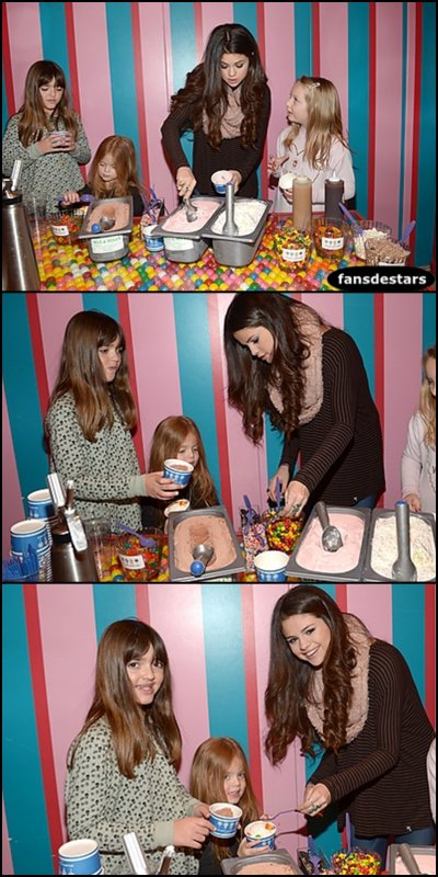 18/01/2013 : Selena au Dessert Party organisé par l'association UNICEF.