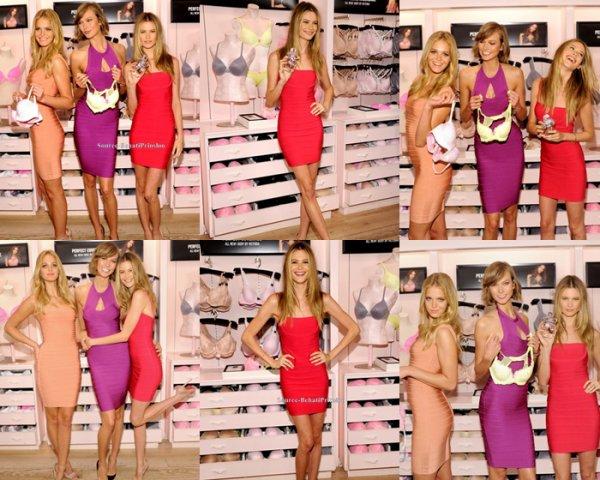 Le 29.07.13 : Behati était dans une boutique Victoria Secret pour promouvoir la marque et faire des photos avec des fans en compagnie d'autres Anges de la marque...