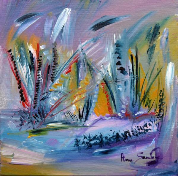 Âme Sauvage, artiste peintre : peintures abstraites colorées