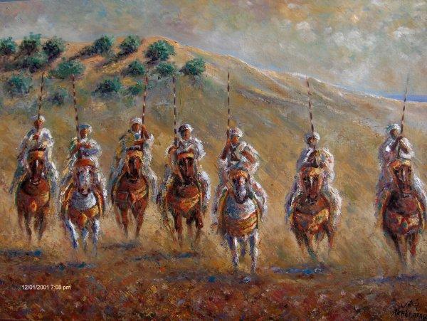 AKH EL ARAB  peintre Marocain