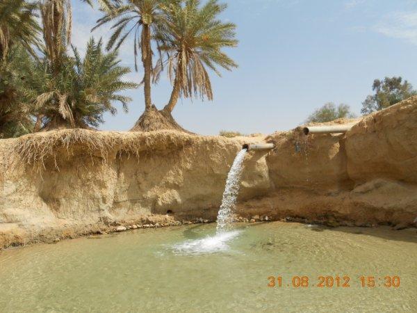 cascade au desert
