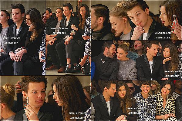 17.02.13: Eleanor Calder et son copain Louis Tomlinson ont été vus arrivant à la Fashion Week  de Londres. La tenue que Eleanor porte est tout simplement splendide, aucune faute de gout d'après moi, donc top. Vidéo où ont les voit ICI.