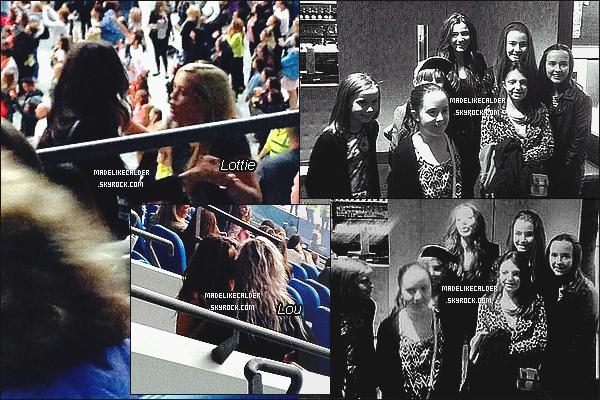 30/05/14 : Eleanor Calder était présente au concert des 1D avec sa cousine et quelques autre amies, à MCH. Enfin ! L'étudiante, qui à maintenant fini ses examens, est finalement sortie pour allez voir son copain Louis Tomlinson sur scène.