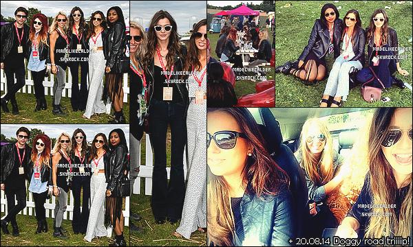 17/08/14 : Les jolies copines, Eleanor et Sophia, étaient présentent au « Festival V » accompagnées d'autres amis. Staffordshire, UK. Certaines n'aimerons pas, mais perso j'aime bien sa tenue de Festival. Même si elle n'est pas la plus originale, les jeans années 70 complètent bien le look, top!