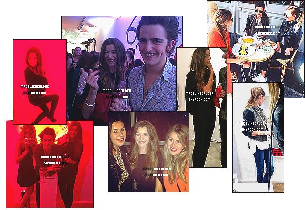 _●●_LONDON FASHION WEEK - _Eleanor, Max et Alana étaient présent à la Fashion week de Londres. (13.09.14) + Le 15 Septembre son amie Danielle Bernstein est venue rendre visite à Eleanor, elles ont donc pris leurs petit déjeuner accompagnées de Alana, à Londres