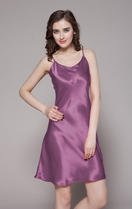 Womens Mid-Length Silk Slips