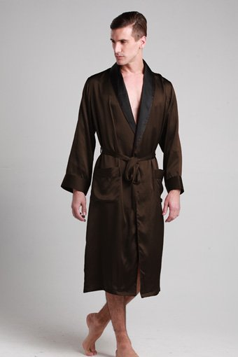 Mens silk robe