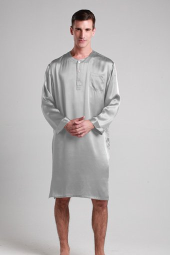 Mens silk nightshirt