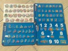PUZZLE EDUCATIF EN BOIS  apprendre les lettres en arabe et en francais ou anglais et les chiffres excellente qualité