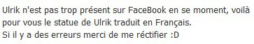 Ulrik munther a travers le reseau social Facebook
