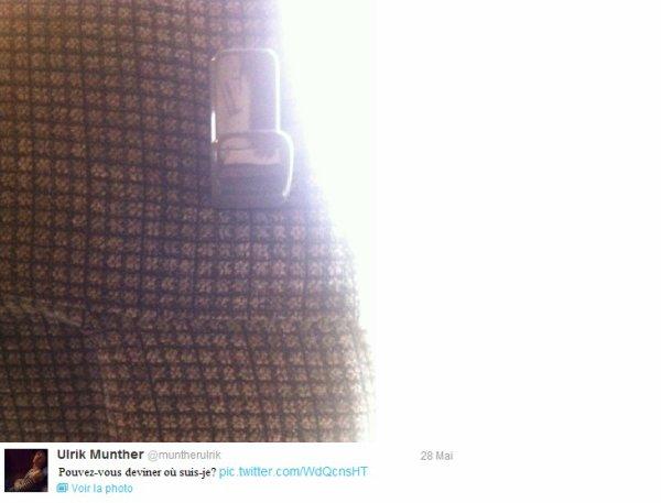 Via Twitter (Classez du plus recent au plus vieux) Pas de très bonne qualité, Ulrik les a pris avec son téléphone portable :/