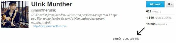Zoom sur le twitter de Ulrik Munther
