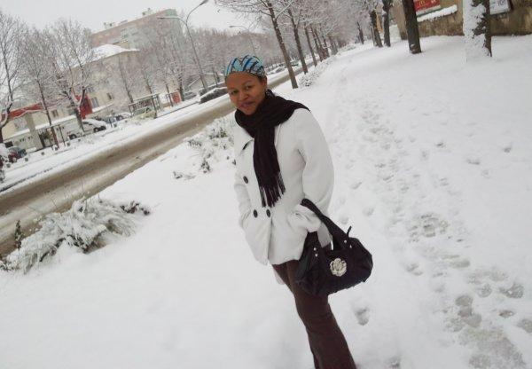 je profite de la neige hé ouii