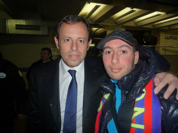 I2h avec Sandro Rosell le président du FC Barcelone