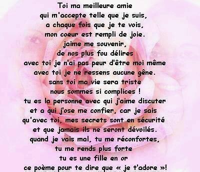 Poeme Pour Ma Meilleure Amie Bienvenue Sur Le Blog De