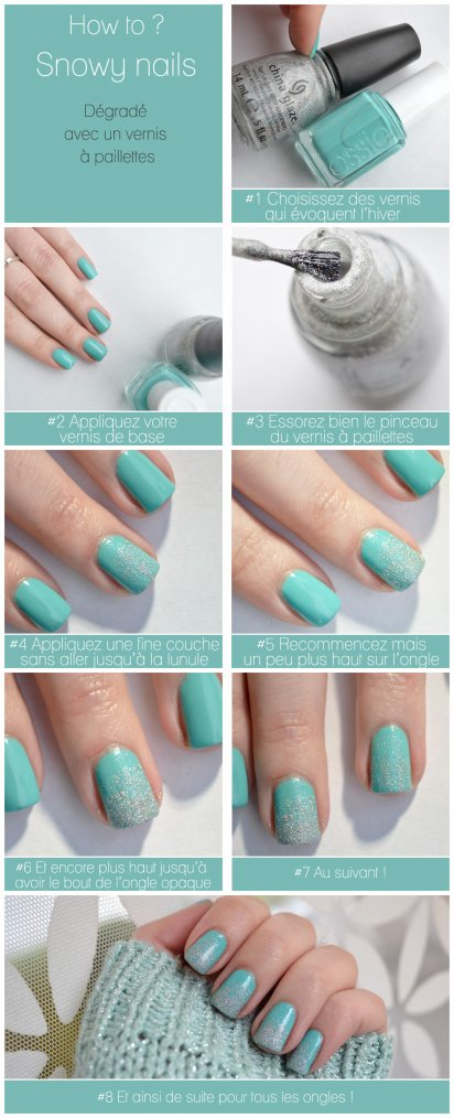 Snowy nails ou comment enneiger ses ongles !