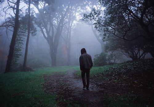 Dans ce brouillard épais et cette fine pluie, j'apparais lorsque tu es déjà parti.