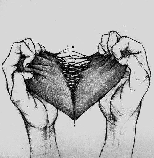Quand mon coeur était déchiré dans le passé...