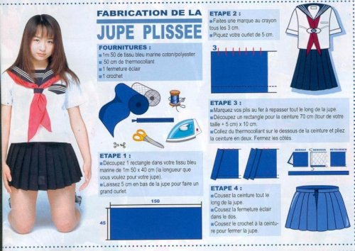 tutorial pour une uniforme sailor