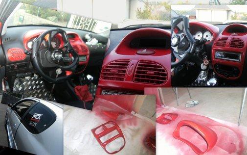 Voici mon interieur avec peinture ma 206 tuning for Peugeot 206 tuning interieur