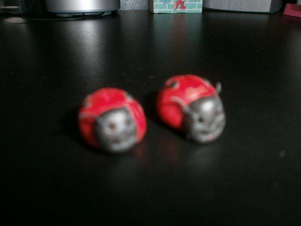 Mes petites coccinelles en fimo !!!! =D