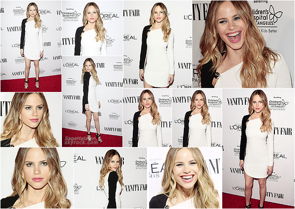 27.02.2016 •• Halston a assisté à la soirée organisée par Vanity Fair et L'Oreal Paris, à Los Angeles. Miss Sage était sublime vêtu d'une robe Thierry Mugler, j'adore son make-up qui donne une touche de pep's a la tenue gros top !