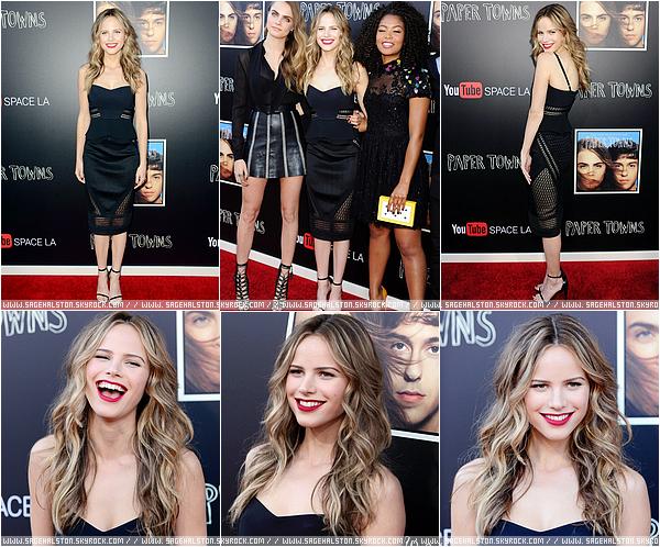 17.07.2015 •• Le cast de Paper Towns s'est rendu à LA à l'occasion de l'événement organisé par Youtube pour la promo du film.