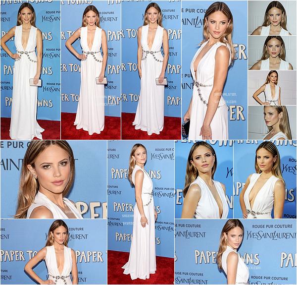 21.07.2015 •• Le cast s'est retrouver le soir même sur le tapis rouge pour la première du film a NY. Hals' était rayonnante dans une robe blanche très chic signé Miu Miu. Côté mise en beauté, j'aime beaucoup, quand pensez-vous ?