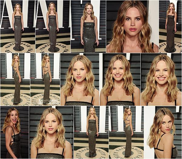 26.02.2017 •• Halston était présente à la soirée des Oscars organisée par Vanity Fair, à Beverly H. H enchaine les sorties en ce moment, dans une robe signée M. Kors cette fois. Je la trouve absolument magnifique, qu'en pensez-vous ?