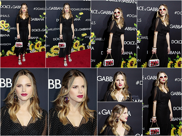 23.03.2017 •• Halston s'est rendu à une soirée organisée par Dolce & Gabbana à Los Angeles. Accessoires et tenue D&G oblige, je trouve Halston très mignonne à cette soirée. (+) j'aime beaucoup sa coiffure et son makeup !