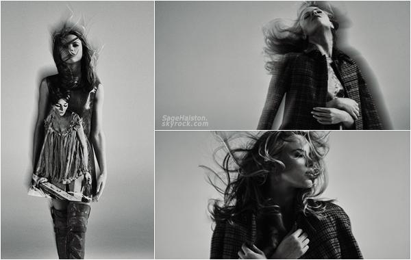 - PHOTOSHOOT •• Découvrez des clichés de la belle Halston Sage pour le magazine Flaunt. -
