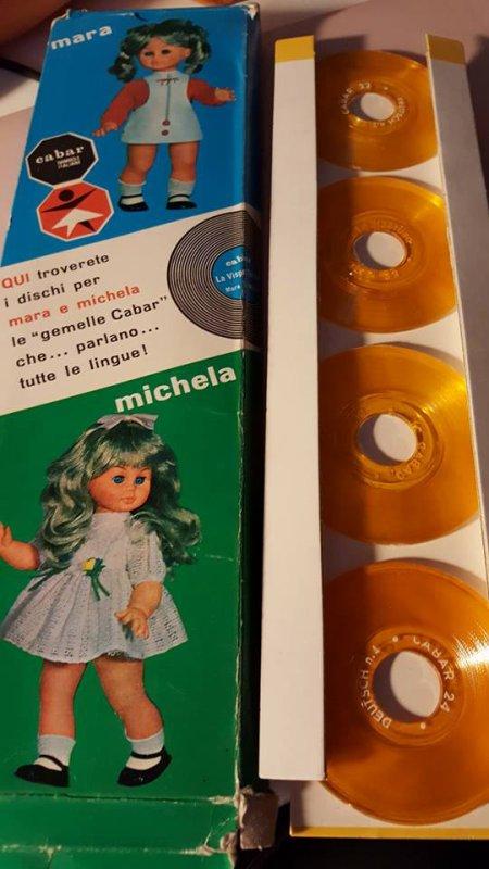 Disques 21-22-23-24  pour une poupée Cabar  Mara et  Michela