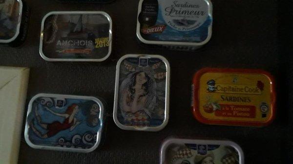 Ma petite collection de boîtes à sardines ...vides